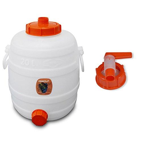 Speidel Getränkefass 20 Liter Rund mit Hahn (15mm Öffnung)