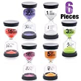 Swpeet 6 Pack 6 Colors Sand Timer Hourglass Sandglass Timer...