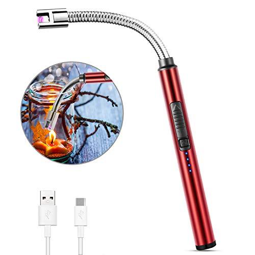 MOSUO Encendedor Electrico, Mechero de Arco Electrico USB Recargable, Cuello Largo 360°...