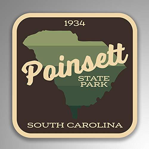 Lplpol - Adhesivo de vinilo de 4 pulgadas, diseño de Poinsett State Park South Carolina (2 unidades)