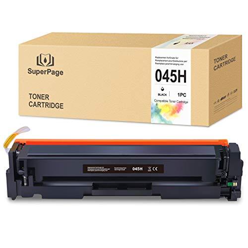 1 Superpage Kompatibel für Canon 045 045H Multipack Toner für Canon i-Sensys LBP611Cn LBP613Cdw MF631Cn MF633Cdw MF635Cx imageCLASS MF634Cdw MF632Cdw LBP612Cdw (Schwarz)