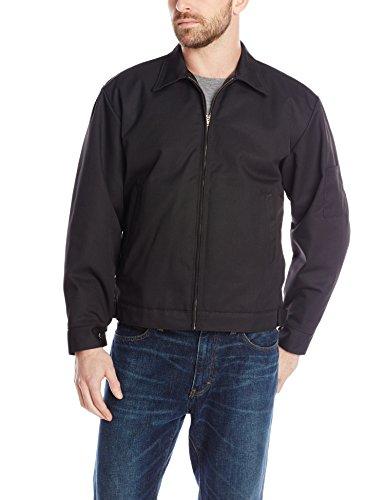 Red Kap Men's Slash Pocket Quilt-Lined Jacket, Black, X-Large