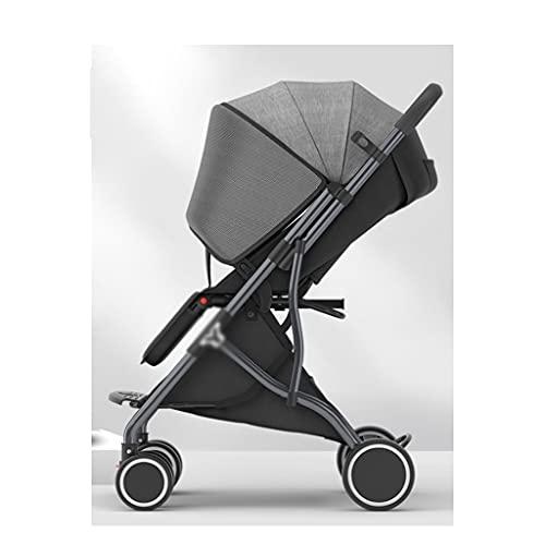 Yyqx sillas de Paseo Cochecito de bebé Trolley Sentarse Acuéstate y Pliegue Ligeramente el Carrito de Cochecito de niño recién Nacido portátil del Cochecito de niño recién Nacido portátil