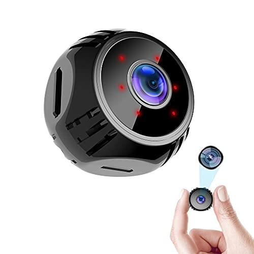 CHENPENG Mini cámara espía, cámara Oculta WiFi HD 1080P, cámara de vigilancia para niñeras con detección de Movimiento por Audio, visión Nocturna por Infrarrojos para Interior hogar