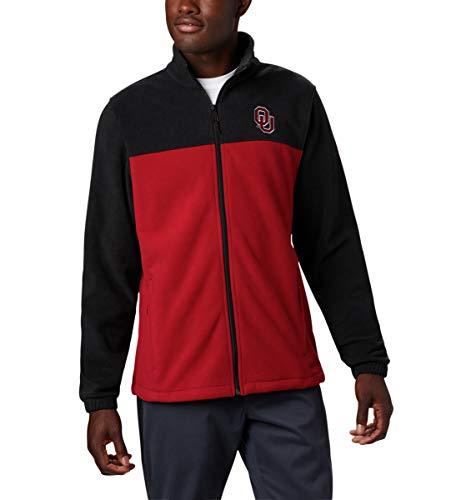 Columbia Collegiate Flanker Iii - Chaqueta de forro polar para hombre, Collegiate Flanker III, color negro y rojo, terciopelo, 4 x mallas