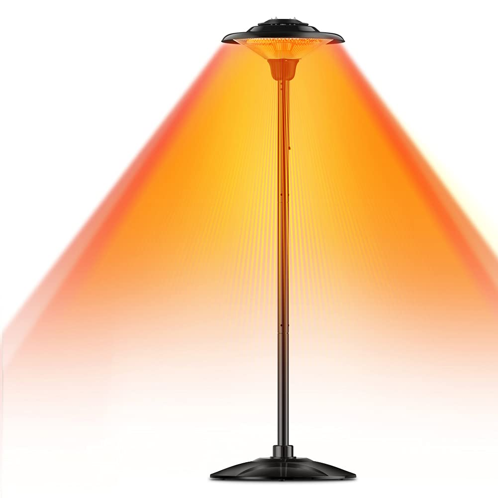 Sponsored Ad - Patio Heater, Outdoor Heater, 1500W Infrared Heater Waterproof Tip-Over Protection Electric Heater for Outd...