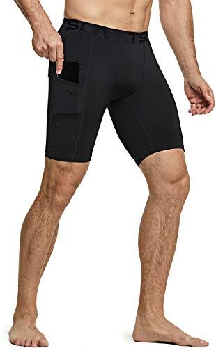 TSLA Dri Fit - Ropa interior de compresión activa de entrenamiento, pantalones cortos...