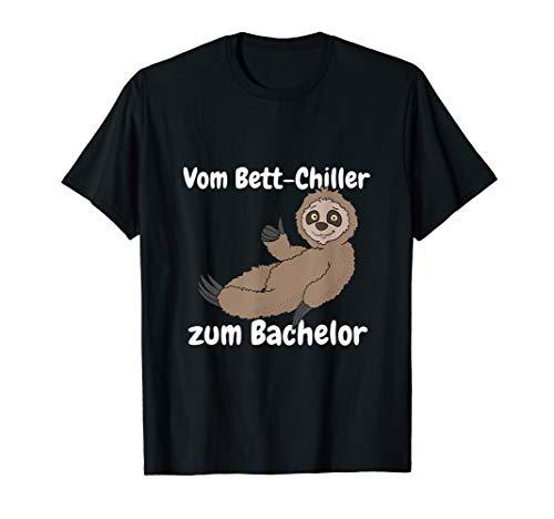 Uni Bachelor Abschluss Geschenk Faultier für Abschlussfeier T-Shirt