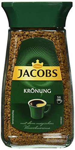 Jacobs löslicher Kaffee Krönung, 6er Pack, 6 x 100 g Instant Kaffee