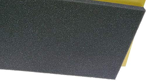 Schaumstoff, selbstklebend Koffereinlage, Kofferpolster, Schaumstoffpolster (50 x 100 x 1,5 cm)