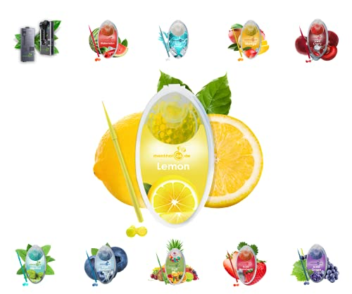 menthol24de Aroma Kapseln verschiedene Sorten (Lemon, 100)