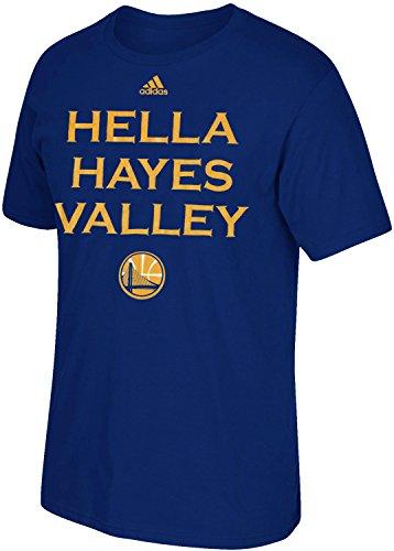 adidas Golden State Warriors NBA Hella San Francisco Neighborhood Series T-Shirt, Azul (Medium, Hayes Valley)