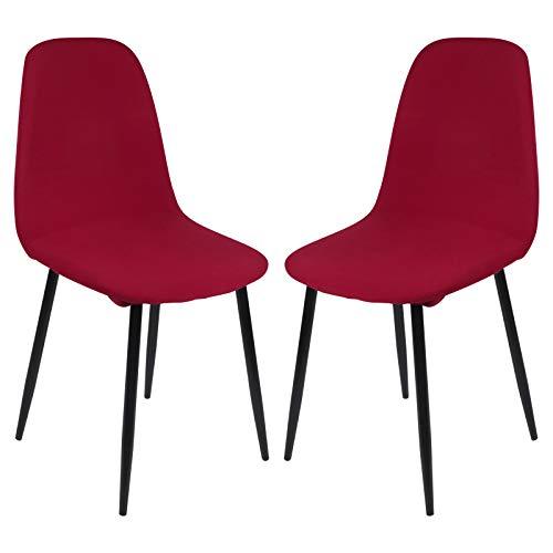 Dihope Stuhlhussen Universal Esszimmerstühle Hussen Set 1er/2er/4er/6er Elastischer Stuhlbezug Stretch weiche Glatte Moderne Stuhlhussen für Wohnzimmer Büro Esszimmer