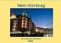 Mein Hamburg - Am schoensten bei Nacht (Wandkalender 2022 DIN A2 quer): Bei Nacht zeigt Hamburg eine weitere seiner schoenen Seiten (Monatskalender, 14 Seiten )
