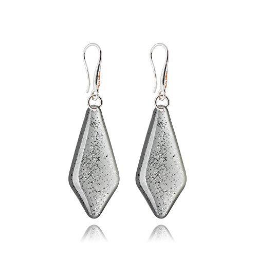 Mode Silber Funkelnd Baumeln Ohrringe Geschenke für Damen; Luxus Leicht Party Schmuck; Maß 3x1.3cm