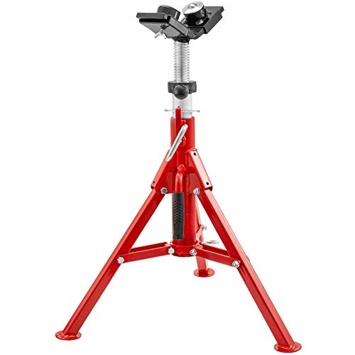Mophorn Pipe Jack Stand 4500LB Adjustable Height 24-43IN With Folding Legs and 2-Ball Transfer V-Head Welding Pipe Stand 1107B-type Pipe Jacks for Welding
