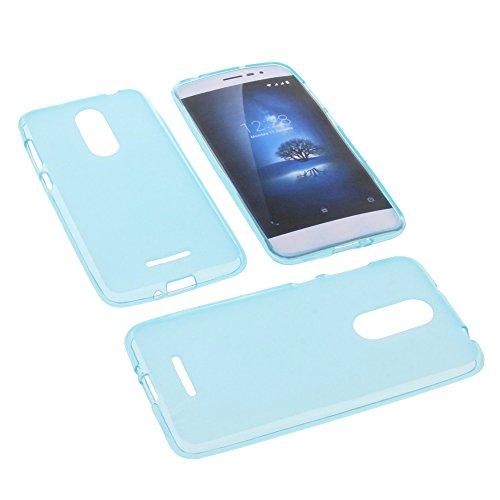 foto-kontor Tasche für coolpad Torino S Gummi TPU Schutz Handytasche blau