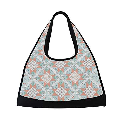 MONTOJ Klassische Handtaschen mit Steppmuster für Damen