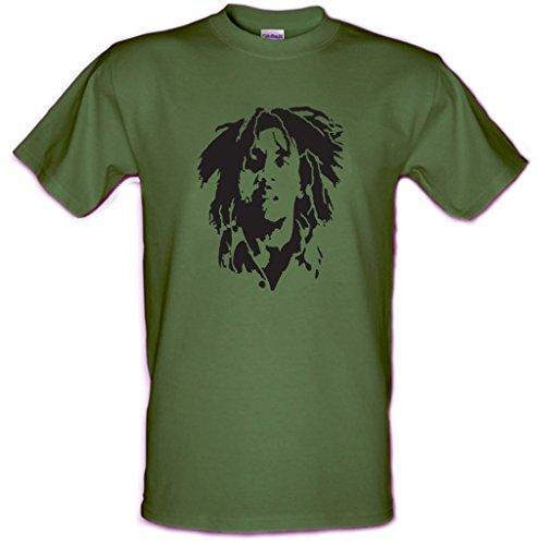 BOB MARLEY Legend Che Guevara de sujeción para trabajos pesados Gildan Reggae con diseño de estampado de algodón tamaño pequeño T-camiseta de manga corta de todos los tamaños - XXL