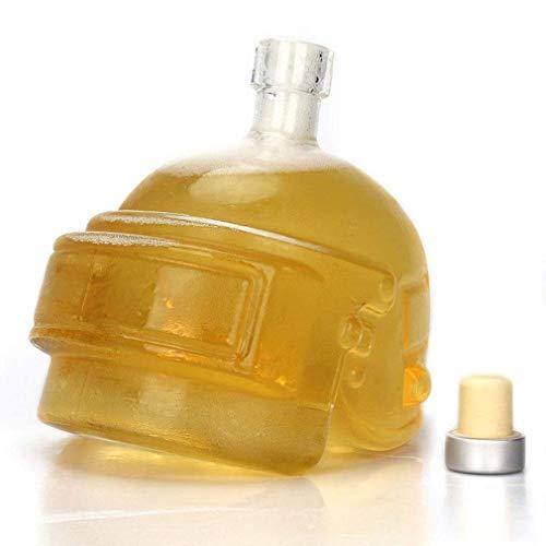 ZHAO Botella Vino de la Jarra de Cristal garrafa de Cristal único Casco de diseño Vino de la Jarra de Whisky, Vodka, Vino Accesorios Regalo Barra de Herramientas