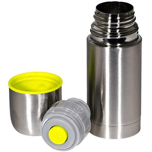SIDCO Thermosflasche Mini Isolierflasche klein Baby Isolierflasche 125 ml Edelstahl