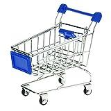 Newin Star Mini Carro de Compras supermercado carros de Mano de Compras Modelo Cesta del almacenaje de Juguete para niños Azul