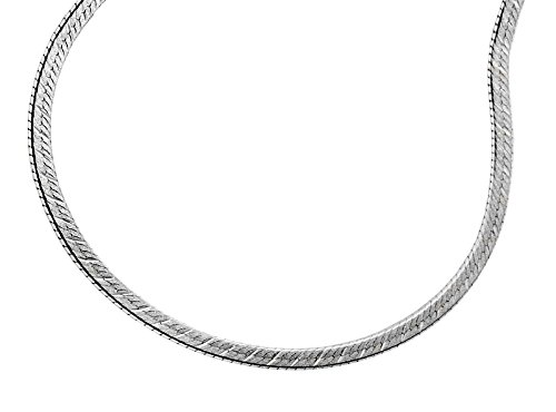 GENUINE SOLID 925 STERLING SILVER SMOOTH HERRINGBONE CHAIN NECKLACE - 3mm Gauge - 20inch