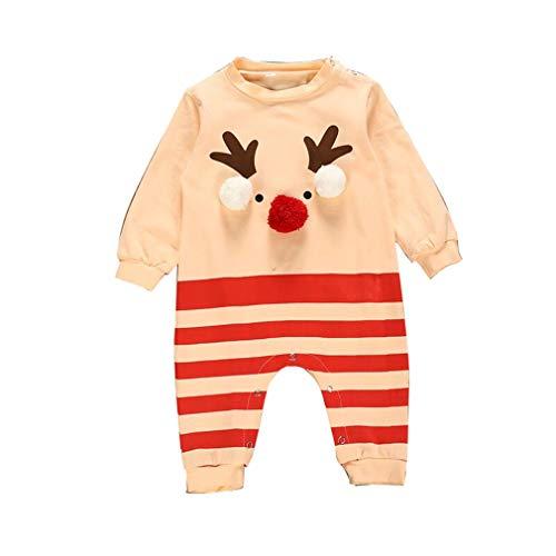 Gaga stad Kerstmis Baby Outfit Jongens Meisjes Rendier Romper Bodysuit pyjama Lange mouwen Kerstmis Onesie Peuter Kostuum Jumpsuit 0-24 Maanden