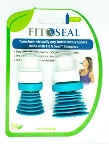 Fit N Seal Sport Bottle Top - Spill Proof Sports Top and Seal for Active Adults Drinking Water, Juice or Sports Drink - Reusable, No BPA, Non-Leak Universal Lid for Travel - Best for Active Adults