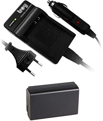 troy Akku + Ladegerät für Samsung NX100, NX200, NX210, NX2020, NX300, NX1000, NX1100, BP-1030, BP1030
