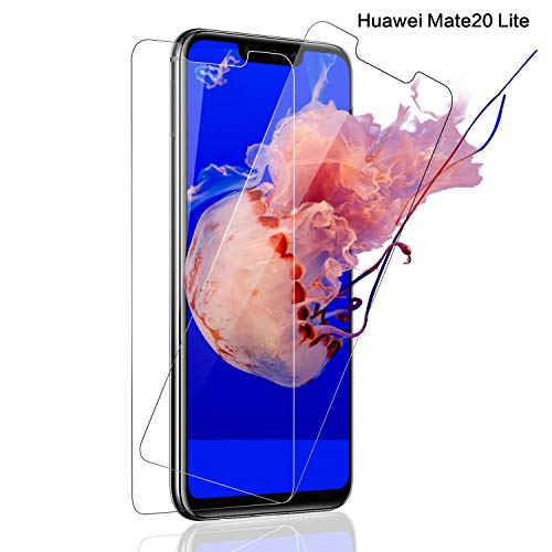 SNUNGPHIR Pellicola Vetro Temperato per Huawei Mate 20 Lite, 2 Pezzi, HD-Clear 9H Resistenza Pellicola Protettiva in Vetro Temperato per Huawei Mate 20 Lite, [Anti-graffio][Impermeabile] [Anti-Olio]