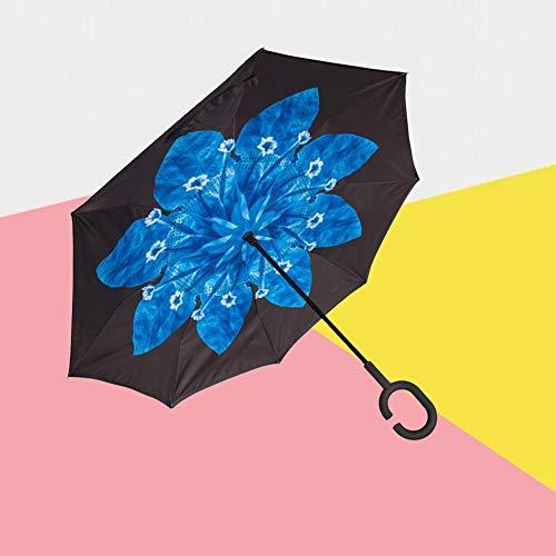 Rainnao Dubbellaags omgekeerde paraplu, antispatten, dubbellaags C-handgreep, auto omgekeerde paraplu B