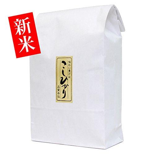新築のお祝い・内祝いに【新米・玄米】新潟米コシヒカリ 3kg [新潟産こしひかり]