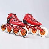 Roller Skates en ligne Skates Roller Skates pour femmes et hommes - Chaussures de patinage de vitesse professionnelles adultes Sports en plein air Fitness Fitness Skates adaptés aux débutants garçons