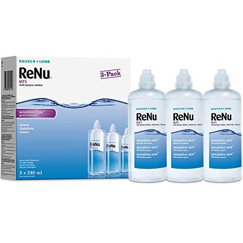 Bausch & Lomb ReNu MPS Multi- Zweck Desinfektionslösung für Empfindliche Augen 3x240ml (3 monate zubehör)