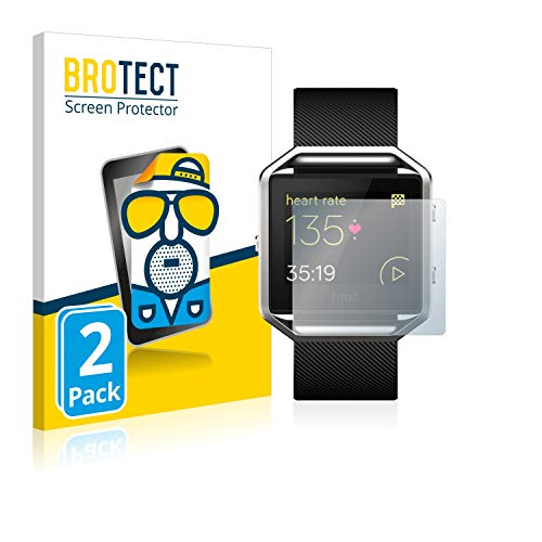 BROTECT 2X Entspiegelungs-Schutzfolie kompatibel mit Fitbit Blaze Displayschutz-Folie Matt, Anti-Reflex, Anti-Fingerprint