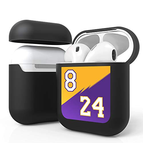 PimpCase Black Case Cover Compatible with Airpods Charging Case Protection Gen 1 & Gen 2 - Purple and Gold 8 & 24