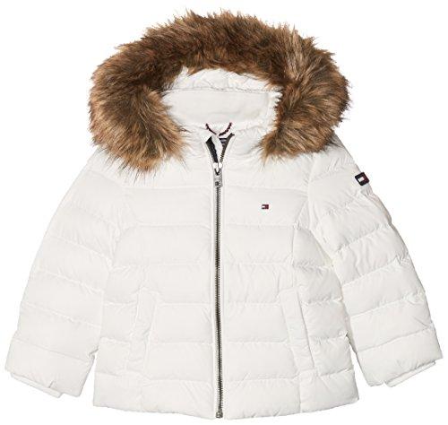 Tommy Hilfiger Mädchen AME THKG DG Basic Jacket Jacke, Weiß (Snow White 118), 7 Jahre (Herstellergröße: 7)