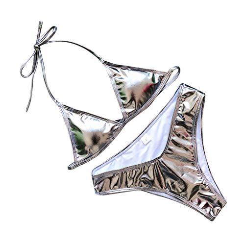 TWIFER Damen Bikini Solid Badeanzug Zweiteiliger Gefüllter BH Bademode Beachwear