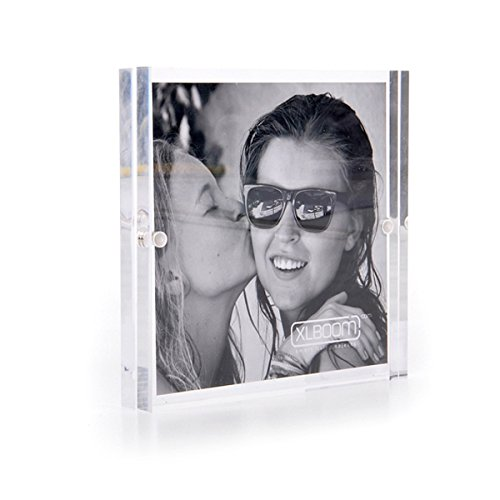 XLBOOM Cadre photo en acrylique 10 x 10 cm