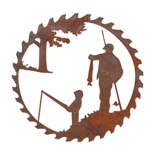 2021 Father's Day Unique Gift Metal Art Fishing Wall Decor, Creative Metal Art Fishing Design Pendant Crafts - Father's Day Gift from Daughter and Son- Home Garden Decoration (Boy)