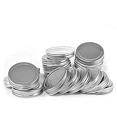 20/24pack Mason Jar Lids Regular Mouth, Leak Proof and Secure (10, Wide Mouth)