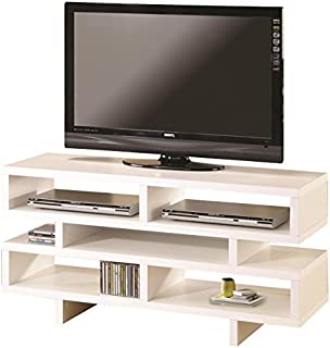 Coaster Home Furnishings TV Console with 5 Open Storage Compartments White