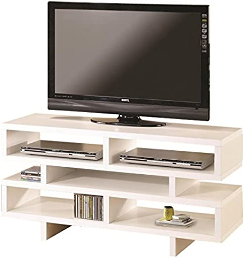 B009Y05SWW✅Coaster Home Furnishings TV Console with 5 Open Storage Compartments White