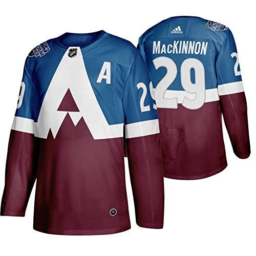 Herren T-Shirt Eishockey Uniform Colorado Avalanche MacKinnon #29 Youth Training Sweatshirts Hockey Trikots Leichtathletik Shirts Gr. M, burgunderfarben