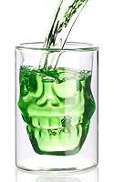 Lustiges Trinkerlebnis: Grinsender Totenkopf hält Ihr Getränk lange kühl • Trinkglas aus doppelwandigem Glas, Inhalt 0,4 l • Doppelwand isoliert: Ihr Getränk bleibt lange kühl, der Tee lange heiß • Spülmaschinenfest für unkomplizierte Reinigung Trink...