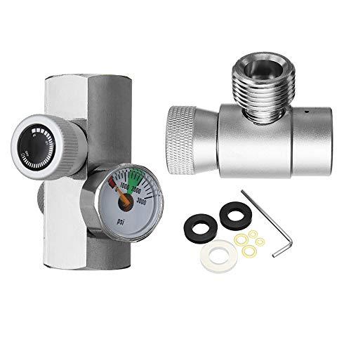 ZHENWOFC Homebrew-Kit für CO2-Tankzylinder-Nachfüll-Fülladapter für SodaStream aus Metall Hardware-Ersatzteile