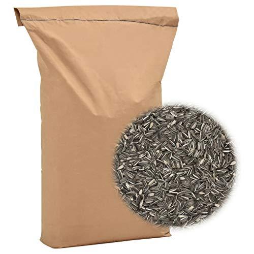 Tidyard Comida para pájaros 25 kg Pipas de Girasol, Alimentos de Aves Silvestres, Mezcla Premium. Comida para pájaros Salvajes