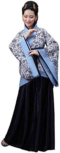 OKZH Hanfu Mujer Antiguo Chino Hanfu Weijin Hanfu Traje De Actuacin Retro Disfraz De Juego Cosplay C 21 Xl