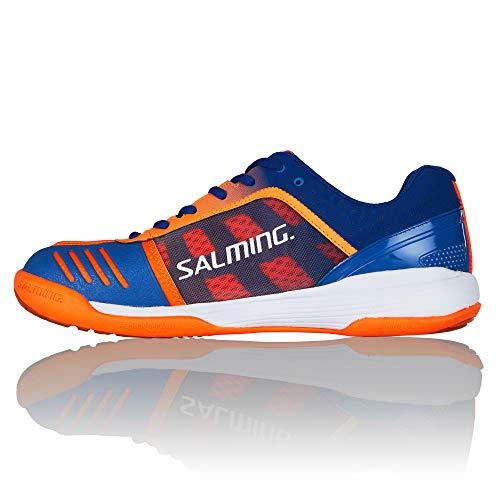 Salming Falco Chaussures de Tennis en Salle pour Homme, Bleu, 44